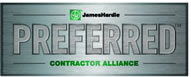 James Hardie Preferred Contractor Badge.