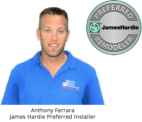 One of our certified James Hardie siding installers