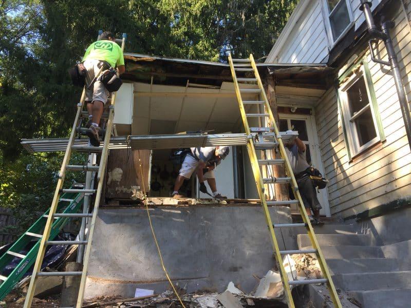 Rebuilding an exterior wall