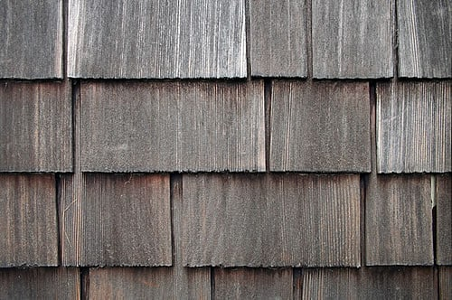 Weathered Cedar Shingles Left Untreated