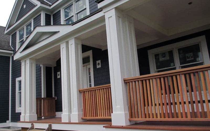 Westchester Residential Job: Mohogany railing and deck.