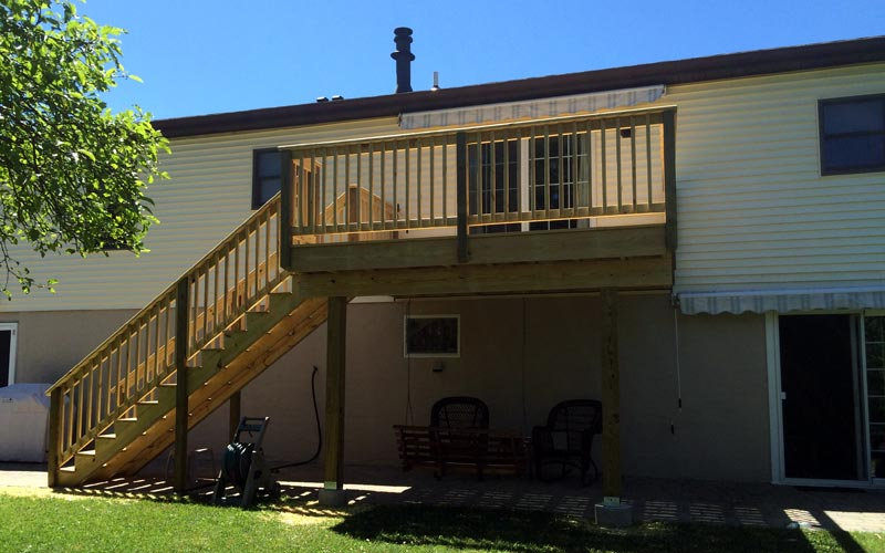 Pressure Treated Deck and Stair