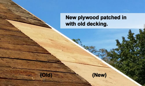 Roof decking patch